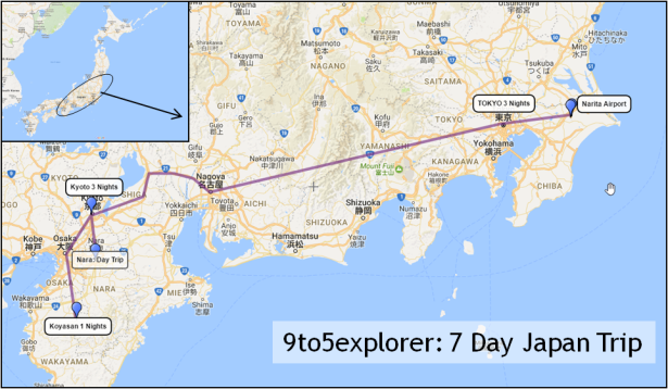 Japan Days Of Heaven TokyoKyoto Itinerary And Route Map - Japan map 7